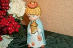 Wise Man Nativity Figure Blond Boy King Vintage Christmas Figurine Hand Painted…