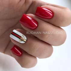 Which nails liked the most больше? Bright options for nail design from __ Do not forget to put ❤ if you want to continue to see our posts in your feed 😘 manicureideas. Classy Nail Designs, Red Nail Designs, Colorful Nail Designs, Acrylic Nail Designs, Cute Acrylic Nails, Cute Nails, Pretty Nails, Red Nail Varnish, Gucci Nails