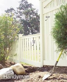 Build a Privacy Fence - Step by Step | The Family Handyman