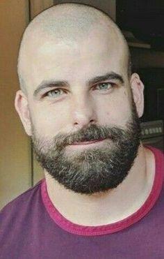 Bald Men With Beards, Bald With Beard, Great Beards, Bald Man, Scruffy Men, Hairy Men, Bearded Men, Beard Styles For Men, Hair And Beard Styles
