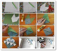 origami marca página - Pesquisa Google