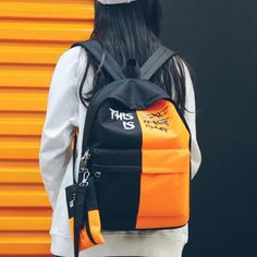 Backpack For Teens, Men's Backpack, Fashion Backpack, School Bags For Boys, Fashion Usa, Laptop Bags, School Backpacks, Color Blocking, Boy Or Girl
