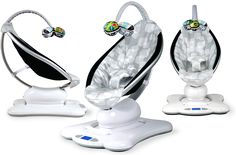mamaRoo motion seat - bounces and sways in 5 different motions, imitating parents' movement. As seen on The Ellen Show's Mother's Day giveaway.