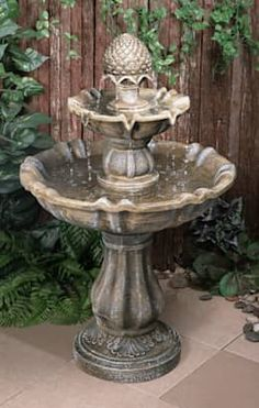 2 Tier Level Water Fountain Feature Cascade Antique Stone Effect Outdoor Garden Bird Bath Garden, Water Garden, Garden Art, Feng Shui, Stone Fountains, Water Fountains, Outdoor Fountains, Glow Stones, Cascade Water