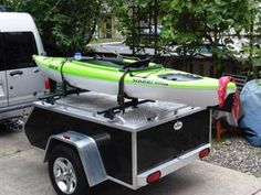 mctxlkayak Small Cargo Trailers, Camper Trailers, Campers, Bug Out Trailer, Camping Trailer Diy, Kayak Trailer, Small Enclosed Trailer, Enclosed Trailers, Models