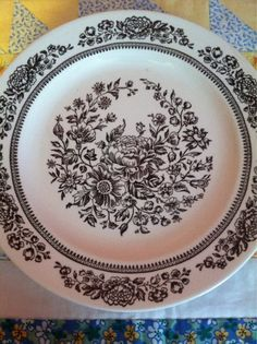 Hey, I found this really awesome Etsy listing at https://www.etsy.com/listing/193608646/vintage-3-piece-dinner-plate-set-brown