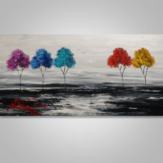 Abstract Painting Tree Painting Original Painting by Catalin