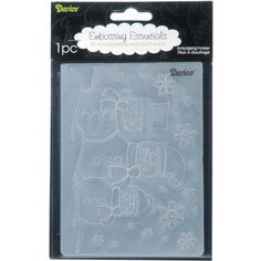 Darice 1215-57 Embossing Folders, 4.25 by 5.75-Inch, Snowman Family Design