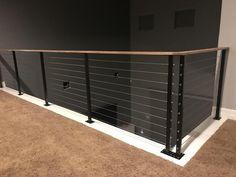 Cable Stair Railing, Modern Stair Railing, Cable Railing Systems, Deck Railing Design, Metal Stairs, Deck Stairs, Staircase Railings, Modern Stairs, Deck Railings