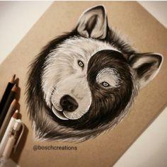 Wolf yin and yang
