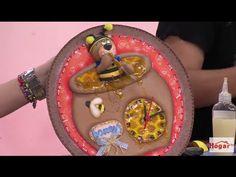 Como hacer Reloj Para Cocina en Foamy con figura de Oso- Hogar Tv  por J...