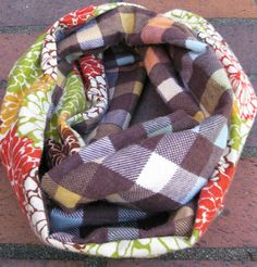 Two Fabric Flannel Infinity Scarf Tutorial