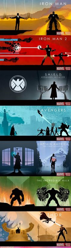 Marvel Cinematic Universe Box Collection Sleeve Art - geek or design? What evs it's awesome.