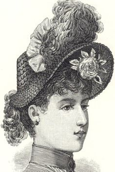 Ladies hat--a must back then!
