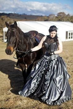 Black and grey dress from Wedding Dress Fantasy