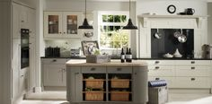 Stamford Pearl, Stone Grey and Dakar   Wood Farm Kitchens.  From Wood Farm Kitchens