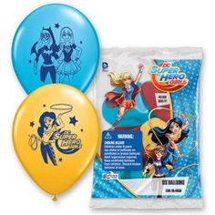 Supergirl Party Supplies, DC Superhero Girl Latex Balloons, Party Decorations