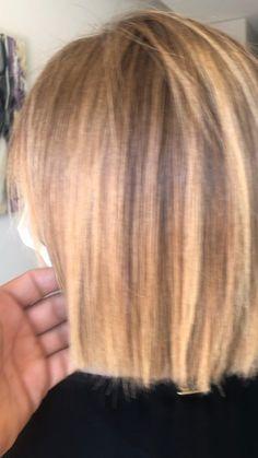 Blonde Ombre Short Hair, Honey Blonde Hair, Strawberry Blonde Hair, Blonde Hair With Highlights, Brunette Hair, Haircuts Straight Hair, Short Hair Cuts, Medium Hair Styles, Short Hair Styles