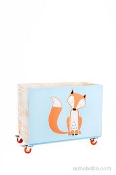 Sehr grosse,100 % hand made, mobile Spielzeugkiste von NOBOBOBO auf DaWanda.com
