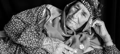 """Picture of Syrian refugee in Turkey with facial tattoos called """"deq."""""""