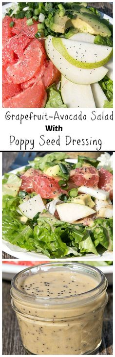 Grapefruit-Avocado Salad with Poppy Seed Dressing is just the quench your tastebuds are looking for.