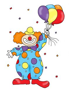 Clown With Balloons Color And B W - Clipart Suggest Carnival Themed Party, Carnival Themes, Circus Decorations, Monkey Crafts, Farm Animal Coloring Pages, Clown Party, Artsy Background, Drawing Lessons For Kids, Cute Clown