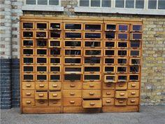 Elemental antique vintage retro furniture lighting seating : antique : Haberdashery Cabinet on Wanelo
