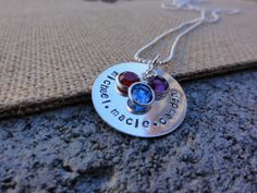 Hey, I found this really awesome Etsy listing at https://www.etsy.com/listing/164955595/hand-stamped-family-birthstone-necklace