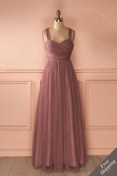 ne histoire merveilleuse était sur le point de s'écrire...    A wonderful story was about to be written... Maxi purple tulle prom dress www.1861.ca