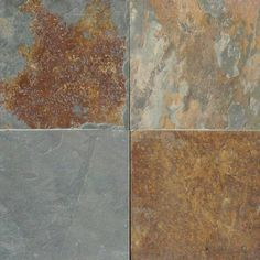 California Gold Slate is a charming, textured slate tile that shines with dazzling accents of green and gold. Perfect for countertops & flooring. Slate Countertop, Slate Flooring, Flooring Tiles, Cork Flooring, Kitchen Countertops, Kitchen Backsplash, Floors, Slate Stone, Stone Tiles