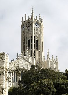 The clock tower at University of Auckland, New Zealand (by Aaron Corn).