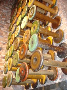 Antique Spools. I love these.