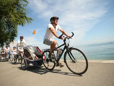 Family bike ride Bodensee-Rhein