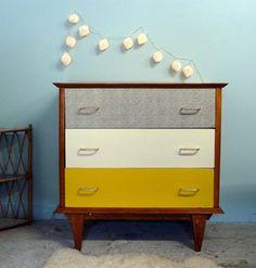 1000 images about chambre vintage enfant jaune on for Meuble bureau jaune