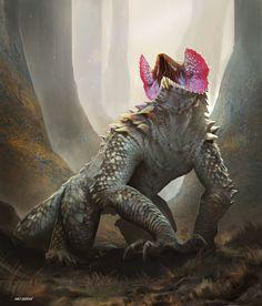 Cold blood, big mouth Max Duran Class Lizard Creature Final by Max Durán Concept Art Alien, Monster Concept Art, Creature Concept Art, Fantasy Monster, Monster Art, Creature Design, Alien Creatures, Magical Creatures, Dark Fantasy Art