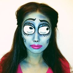 Emily from The Corpse Bride. #halloweenmakeup #corpsebride