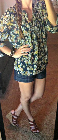 Katie's Closet: Top-LC Lauren Conrad Kohls Shorts- Macys Shoes-Target