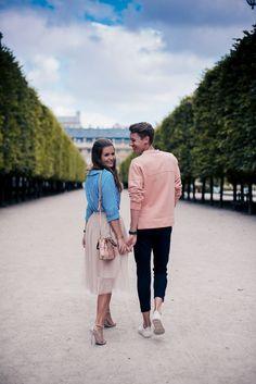 Palais Royal - Josie Loves - Palais Royal in Paris: Couple outfit shoot / Pärchen Shooting - Couple Bi, Couple Fotos, Photo Couple, Couple Shoot, Prom Photography, Photography Women, Couple Photography, Downtown Photography, Shooting Couple