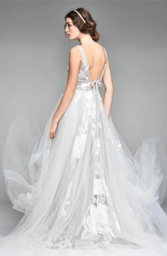 Willowby Galatea Embroidered Tulle Ballgown #WeddingGown #WeddingDress