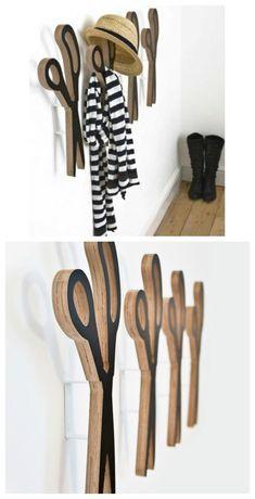 Scissors wall hooks