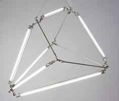 Thin LED Tube Lamp SHY Light by Bec Brittain