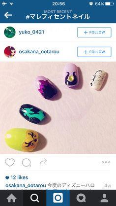villan halloween nail