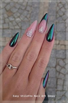 Nageldesign 18 Stylish Stiletto Nail Designs Crafts or DIY - diy nail - stiletto nails - Diy Nails, Cute Nails, Glitter Nails, Nail Nail, Pink Acrylic Nails, Pink Acrylics, Nail Art Designs, Nails Design, Black Stiletto Nails