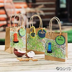 Camp Adventure Favor Bags. Trail mix bags for hike?