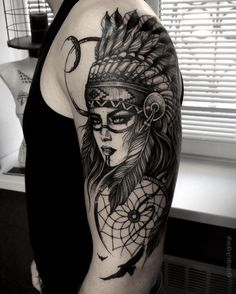 Womens Tattoo Side Hip 49 Ideas For 2019 Red Indian Tattoo, Indian Women Tattoo, Cherokee Indian Tattoos, Indian Girl Tattoos, Indian Skull Tattoos, Indian Tattoo Design, Native American Tattoos, Native Tattoos, Native American Girls