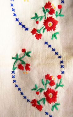embroidered muslin table cloth