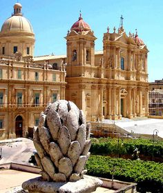 Sicily - Noto Cathedral, Noto, Province of Syracuse , Sicily region Italy / Unesco Word Heritage List