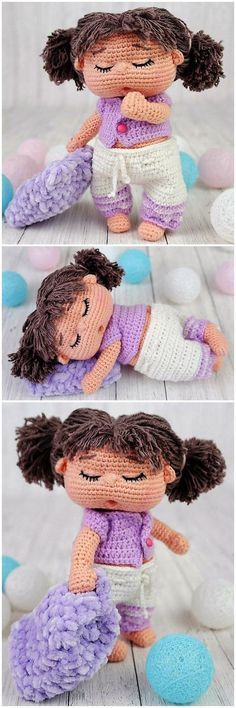 This doll tutorial isn't in this pin. Free and cute amigurumi doll patterns