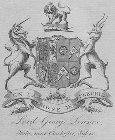 Ex Libris of General Lord George Henry Lennox (1737 – 1805), son of Charles Lennox, 2nd Duke of Richmond & 2nd Duke of Lennox.