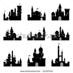 Castle Silhouette Stock Photos, Royalty-Free Images & Vectors ...